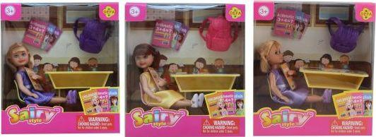 Купить Кукла Defa Sairy Школьница 15 см 8298, пластик, текстиль, Классические куклы и пупсы