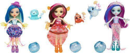 Купить Кукла MATTEL Enchantimals Морские подружки с друзьями FKV54, пластик, текстиль, Куклы Barbie