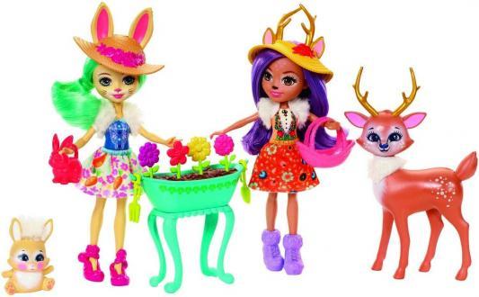 Купить Игр. набор Enchantimals из двух кукол с любимыми зверюшками, MATTEL, 15 см, пластик, текстиль, Куклы Barbie