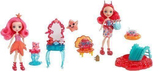 Купить Кукла Enchantimals Морские подружки с тематическим набором в асс-те, MATTEL, пластик, текстиль, Куклы Barbie