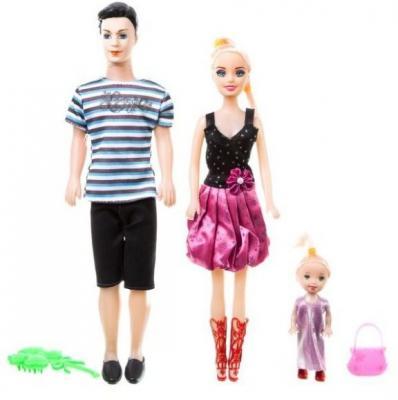 Набор кукол Zhorya Семья 30 см Д81755 zhorya zhorya доска для рисования детская 77х54х13 см