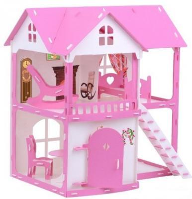 Купить Домик для кукол Коттедж Светлана бело-розовый с мебелью, R&S, Аксессуары для кукол