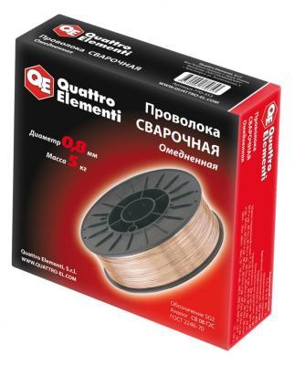 Проволока сварочная QE 770-353 омедненная 0.8мм, 5кг нагреватель воздуха газовый quattro elementi qe 10g 911 536