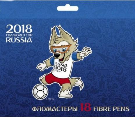 Набор фломастеров FIFA FIFA ЧМ по футболу 2018 Талисман 18 шт BFk_18064