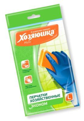 Перчатки латексные эконом Хозяюшка Мила L 17020 недорого