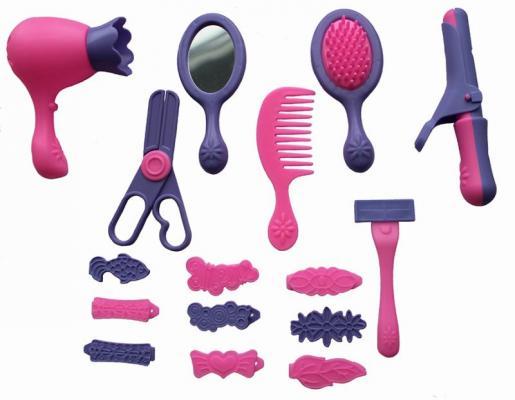 Набор парикмахера Совтехстром Набор парикмахера 16 предметов, для девочки, Прочие игровые наборы  - купить со скидкой