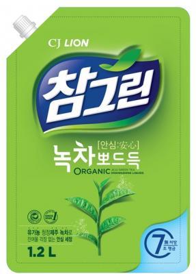 Средство для мытья посуды CJ Lion Chamgreen: Зеленый чай 1.2л цена
