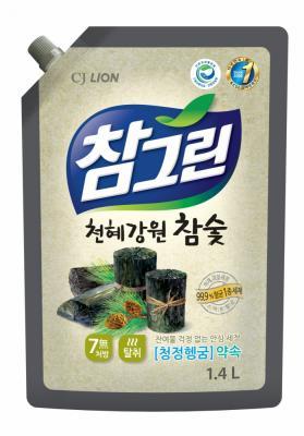 Средство для мытья посуды CJ Lion Chamgreen Древесный уголь 1350 мл бытовая химия lion средство жидкое очарование для мытья посуды лайм 600 мл