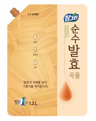 Средство для мытья посуды CJ Lion Chamgreen 5 злаков 1.2л cj lion 1kg