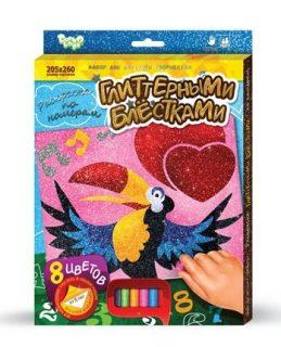 Раскраска по номерам ДАНКО-ТОЙС Попугайчик азбука тойс раскраска по номерам принцесса в синем