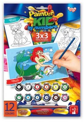 Раскраска по номерам ДАНКО-ТОЙС Русалочка от 3 лет азбука тойс раскраска по номерам принцесса в синем
