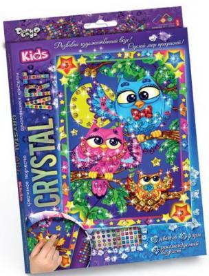 Набор креативного творчества ДАНКО-ТОЙС Crystal Art. Совы от 5 лет набор креативного творчества данко тойс diamond mosaic котята от 9 лет dm 01 10