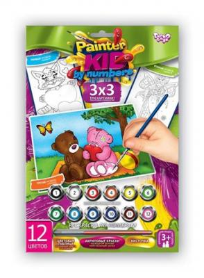 Раскраска по номерам ДАНКО-ТОЙС Мишки 2 от 3 лет азбука тойс раскраска по номерам принцесса в синем