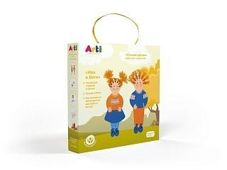 Купить Набор для творчества Arti Лучшие друзья Ира и Витя от 3 лет, Ассорти наборов для творчества