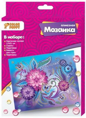 Набор д/творч. Алмазная мозаика «Цветы», 17*21см набор для творчества schreiber алмазная мозаика по номерам цветы 40 40см