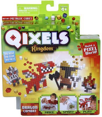 Набор для творчества Qixels Поединок с драконом от 4 лет 87108 women s stylish chiffon long sleeved blouse shirt yellow xl