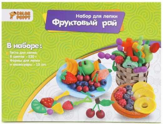 Набор для лепки Фруктовый рай, тесто 230 г, аксессуары набор для лепки мороженое тесто 25г аксессуары