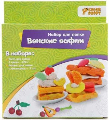 Набор для лепки Венские вафли, тесто 120г, аксессуары набор для лепки мороженое тесто 25г аксессуары