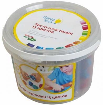 Набор для детской лепки Тесто-пластилин 15 цветов