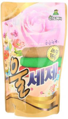 Средство для стирки деликатных тканей, шерсти, шелка Sandokkaebi Wool 500 г средство против запаха и моли для шкафов sandokkaebi лесной 4 г