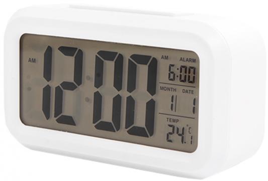 Фото - Часы настольные электронные Сигнал EC-137W белые часы электронные оранжевые