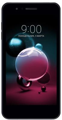 "Смартфон LG X210 K9 16Gb 2Gb черный моноблок 3G 4G 2Sim 5"" 720x1280 Android 6.0.1 8Mpix 802.11bgn BT GPS GSM900/1800 GSM1900 MP3 FM A-GPS microSD max2000Gb"