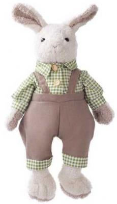 Купить Мягкая игрушка заяц Angel Collection Зайка Джонни искусственный мех текстиль белый серый 23 см 681403, белый, серый, искусственный мех, текстиль, Животные