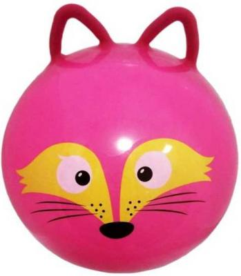 Мяч-попрыгун Moby Kids Лисенок красный от 3 лет пластик 635193 мяч попрыгун moby kids котенок пластик от 3 лет цвет в ассортименте 635588