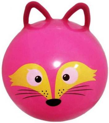 Мяч-попрыгун Moby Kids Лисенок розовый от 3 лет пластик 635196 мяч попрыгун moby kids котенок пластик от 3 лет цвет в ассортименте 635588