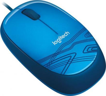 Мышь проводная Logitech M105 синий USB 910-003114 мышь проводная logitech m105 синий usb 910 003105