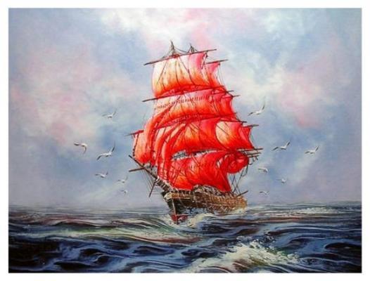 Купить Алмазная живопись Мечта Ассоль 40*50, COLOR KIT, Мозаика