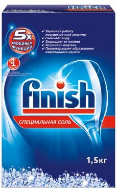Средство для мытья посуды CALGONIT FINISH, д/ПММ, от накипи, соль, 1,5 кг стоимость