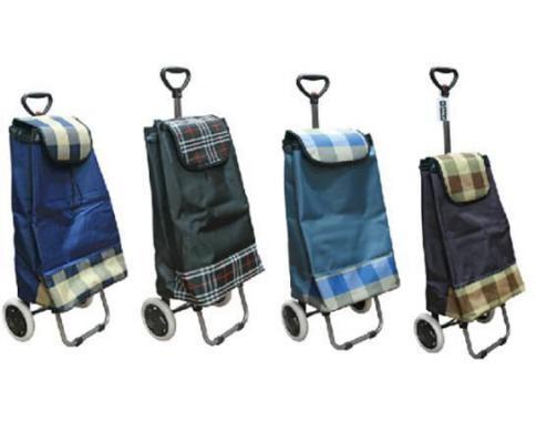 Сумка-тележка хозяйств, на колесах, с выдвижной ручкой, раз.сумки33х23х55 см, клетка, ассорти 4 цв. AST1002