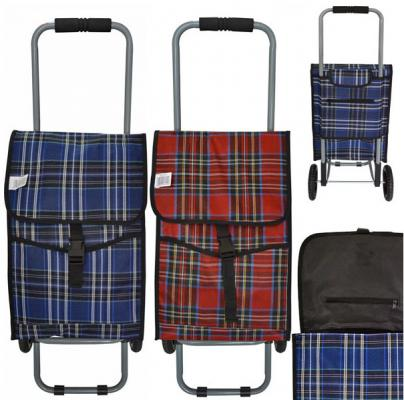 Сумка-тележка хозяйственная,на колесиках, размер 30 х 19 х 45см, ассорти 2 цвета сумка хозяйственная rolser на колесиках цвет verde 40 л