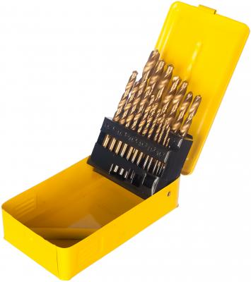 Набор сверл ЭНКОР 21220 по металлу 19шт. 1-10 шаг 0,5 покрыт мет набор ключей энкор 20887
