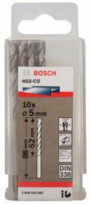 Сверло по металлу BOSCH 2608585885 10шт. HSS-CO 5мм STANDARD цены
