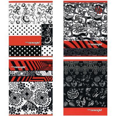 Тетрадь ACTION! ЦВЕТОЧНЫЕ ГРАВЮРЫ, мел. картон, уф-лак, кл, ф. А5, 48 л., 4 дизайна