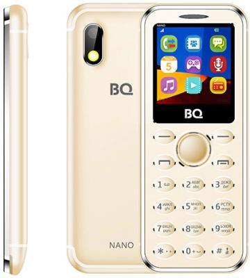 Мобильный телефон BQ BQ-1411 Nano золотистый мобильный телефон bq m 1565 hong kong silver