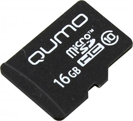 Карта памяти Micro SDHC 16Gb class 10 QUMO QM16GMICSDHC10NA карта памяти sdhc 32gb qumo class 10 qm32gsdhc10