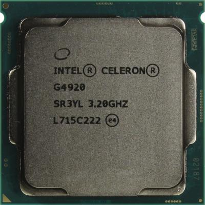 Процессор Intel Celeron G4920 3.2GHz 2Mb Socket 1151 OEM процессор intel celeron g530 g530 cpu 2 4g