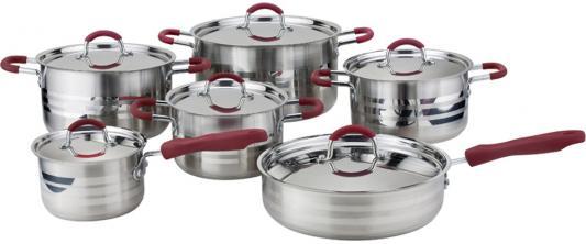 1003-WR Набор посуды WINNER 12 пр.:крышки из нержав. стали, ручки из нержав. стали с силикон.