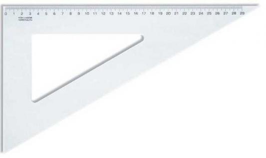 Треугольник, угол 60 градусов / 320 мм, прозрачный, в индивидуальной упаковке с европодвесом