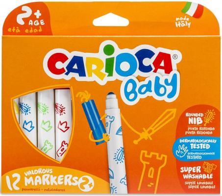 Набор фломастеров CARIOCA BABY 6 мм 12 шт 42814 carioca набор смываемых фломастеров baby jimbo 6 цветов
