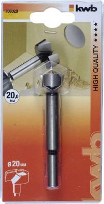 Сверло KWB 7060-20 форстнер 20мм сверло для шарнирных отверстий kwb 35х70мм
