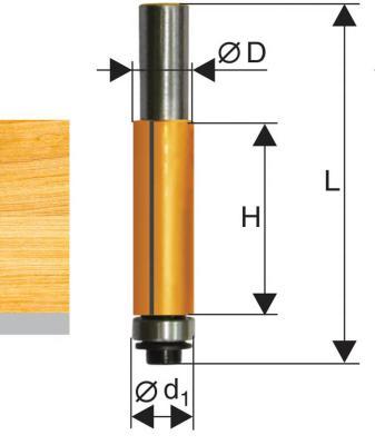 Фреза ЭНКОР 10522 кромочная прямая ф12.7х13мм хв8мм фреза кромочная прямая d12x19 мм