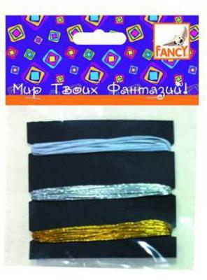 НИТИ эластичные декоративные, в упаковке 3цв по 2м, п/п с е/подвесом нити для плетения радуга п п с е подвесом