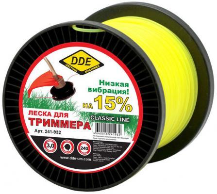 цена на Леска для триммеров DDE 241-932 круг 3.0ммх240м желтый