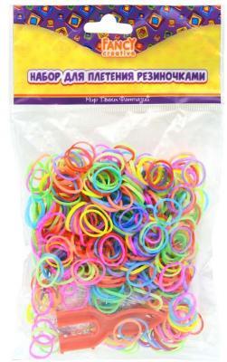 Набор для плетения fancy creative Радужные резиночкм МИКС 600 шт FD030062