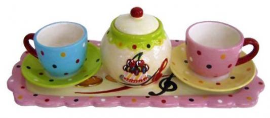 Набор чайный СЛАДКАЯ СИМФОНИЯ, 6 предметов, керамика набор для сладостей сладкая симфония керамика 4 предмета керамика