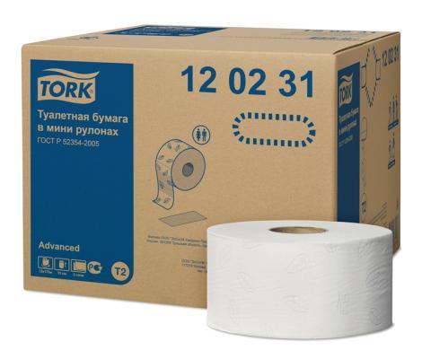 Бумага туалетная Tork 120231/Т 2-ух слойная 12 шт
